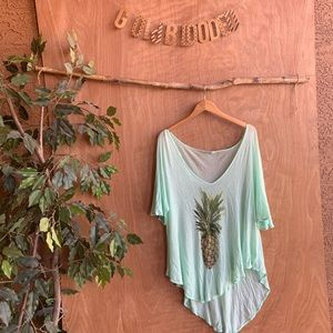 Wildfox Tops - Wildfox swim pineapple tunic coverup